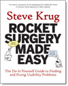 Rocket surgery made easy, livro de Steve  Krug